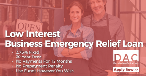 Low Interest Emergency Relief Loans And No Payments For 12 Months